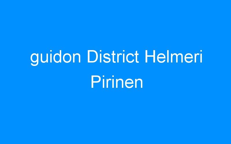 guidon District Helmeri Pirinen