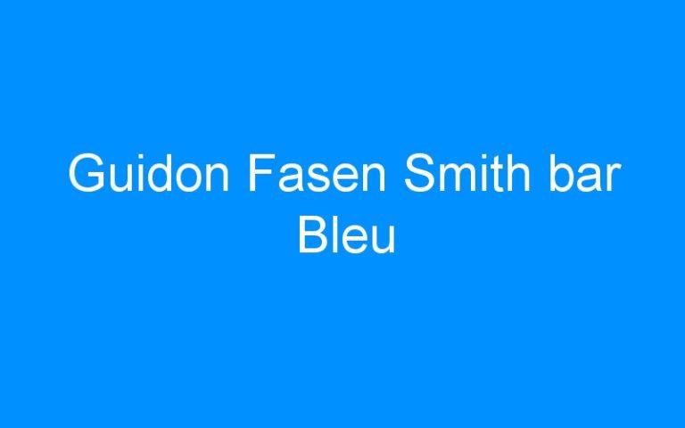 Guidon Fasen Smith bar Bleu
