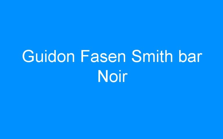 Guidon Fasen Smith bar Noir