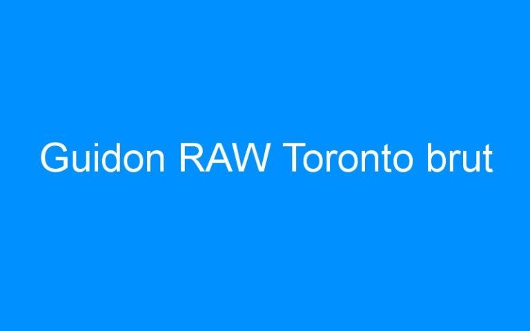 Guidon RAW Toronto brut