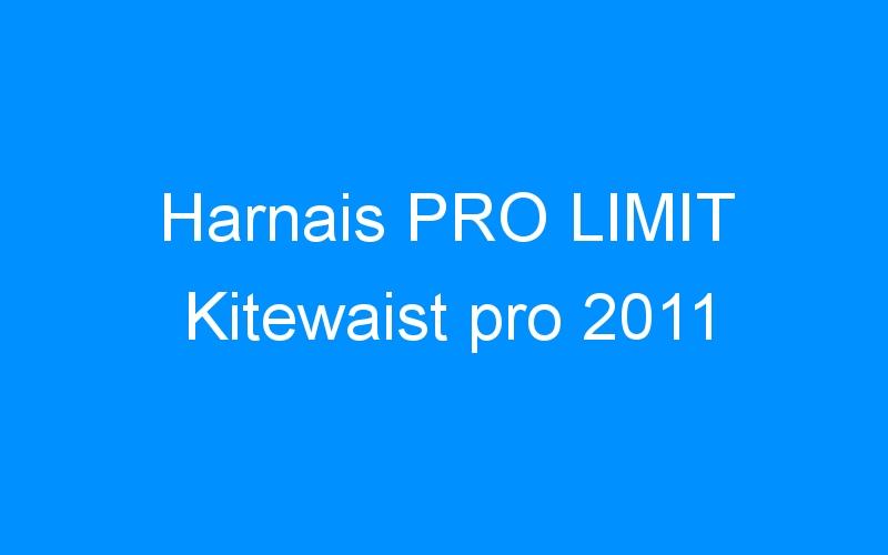 Harnais PRO LIMIT Kitewaist pro 2011