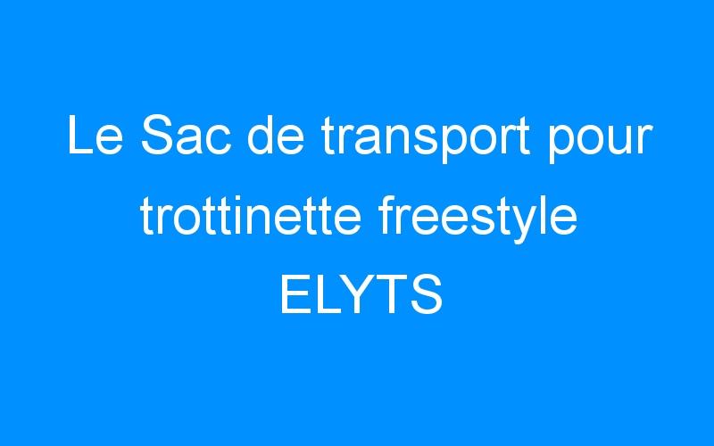 Le Sac de transport pour trottinette freestyle ELYTS