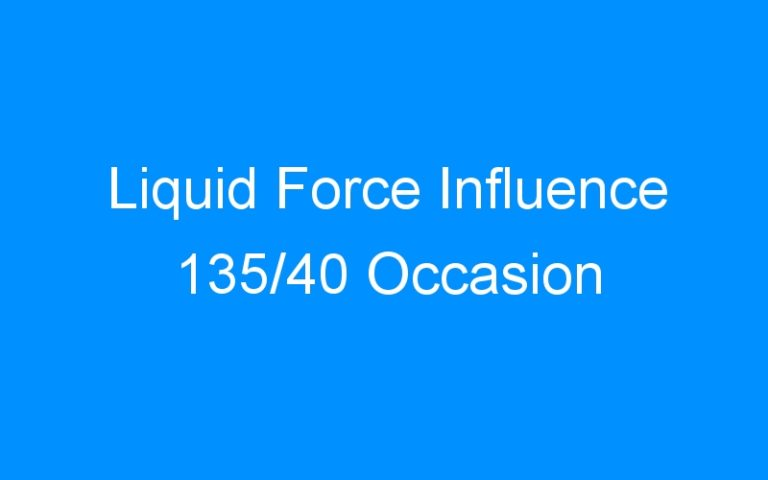 Liquid Force Influence 135/40 Occasion