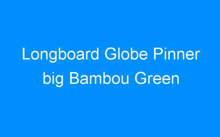 Longboard Globe Pinner big Bambou Green
