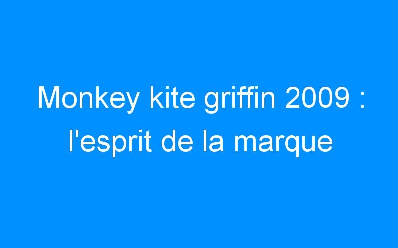 Monkey kite griffin 2009 : l'esprit de la marque