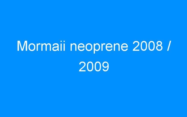 Mormaii neoprene 2008 / 2009