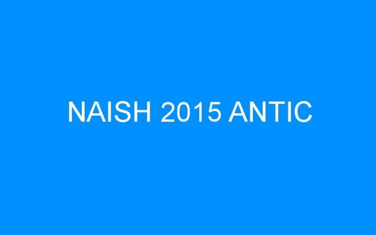 NAISH 2015 ANTIC
