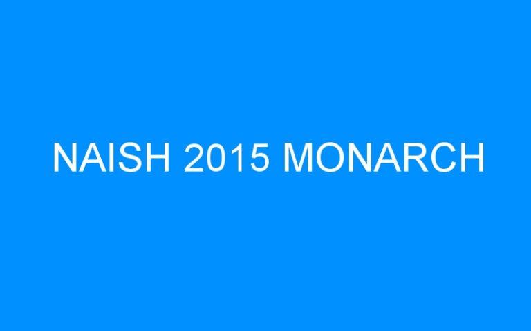 NAISH 2015 MONARCH
