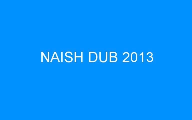 NAISH DUB 2013