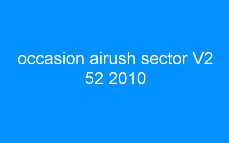 occasion airush sector V2 52 2010
