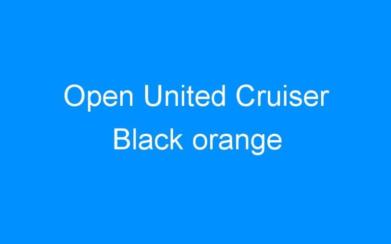 Open United Cruiser Black orange