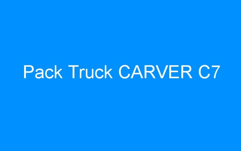 Pack Truck CARVER C7