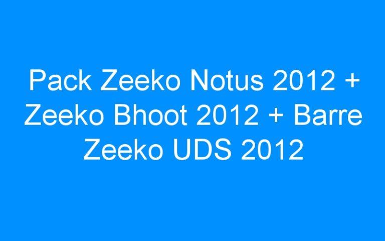 Pack Zeeko Notus 2012 + Zeeko Bhoot 2012 + Barre Zeeko UDS 2012
