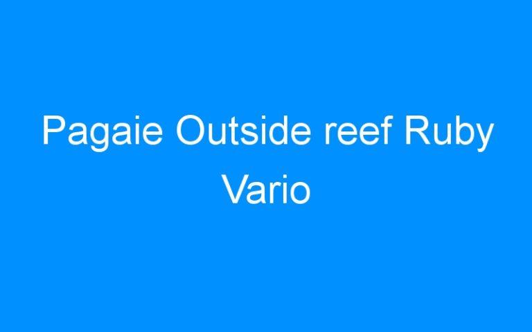 Pagaie Outside reef Ruby Vario