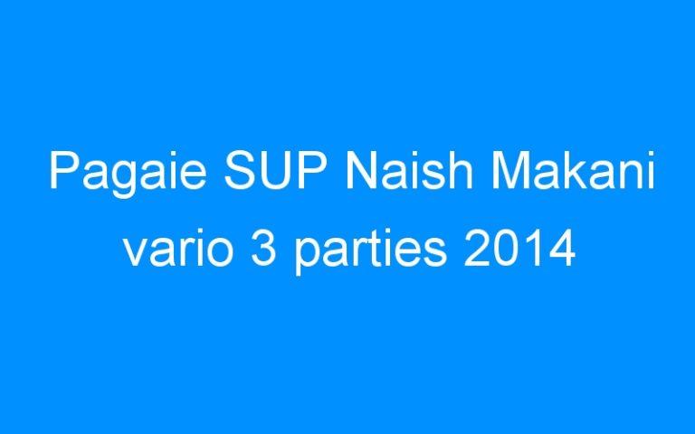 Pagaie SUP Naish Makani vario 3 parties 2014