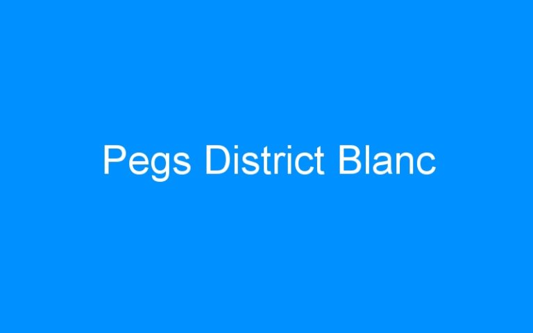 Pegs District Blanc
