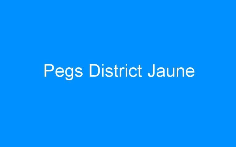Pegs District Jaune