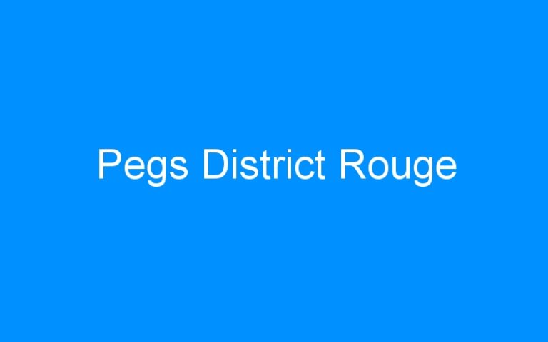 Pegs District Rouge