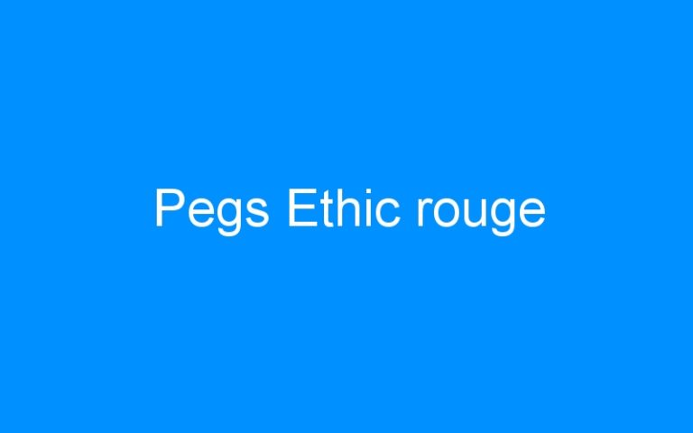 Pegs Ethic rouge