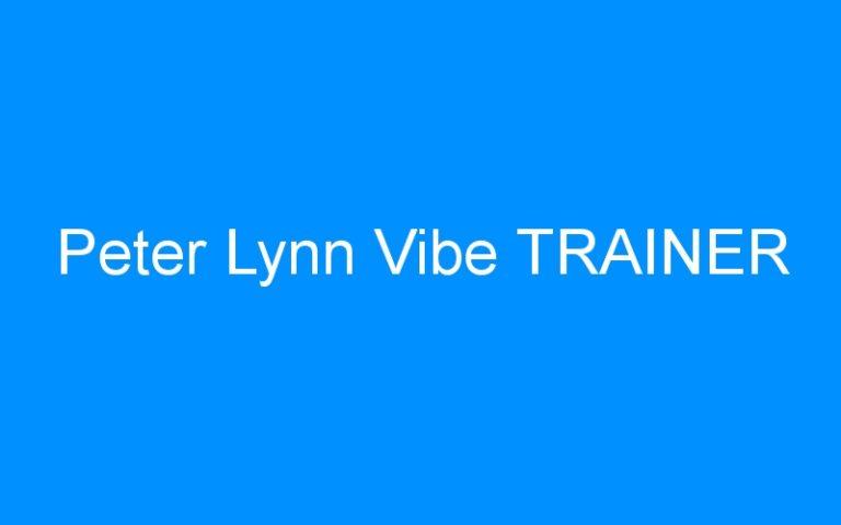 Peter Lynn Vibe TRAINER