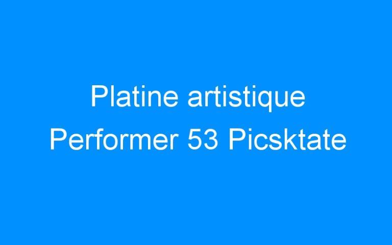 Platine artistique Performer 53 Picsktate