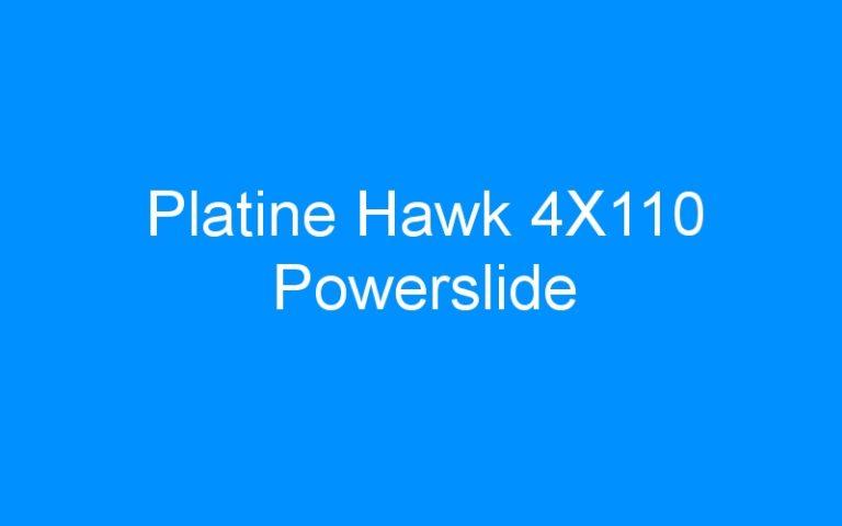 Platine Hawk 4X110 Powerslide