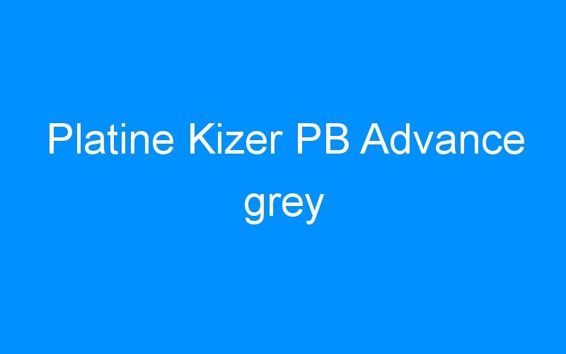 Platine Kizer PB Advance grey