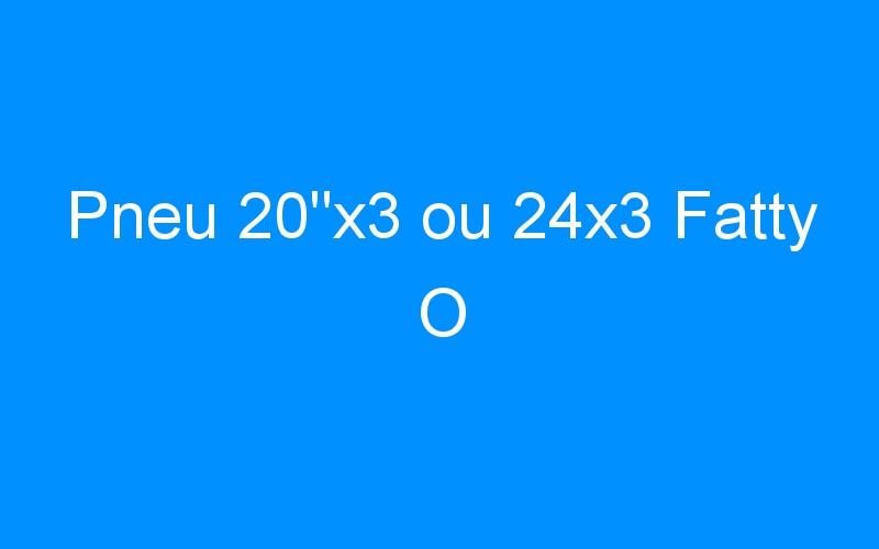 Pneu 20″x3 ou 24×3 Fatty O