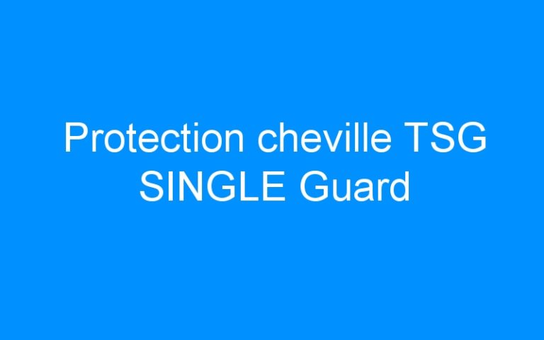 Protection cheville TSG SINGLE Guard