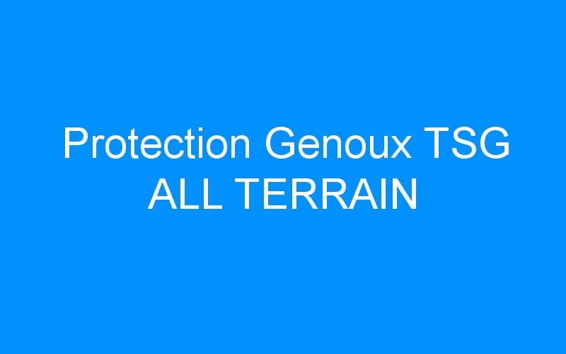 Protection Genoux TSG ALL TERRAIN