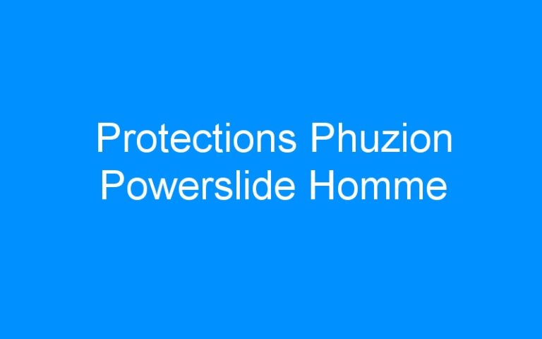 Protections Phuzion Powerslide Homme