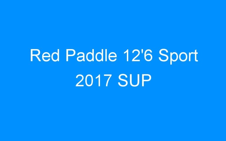 Red Paddle 12'6 Sport 2017 SUP