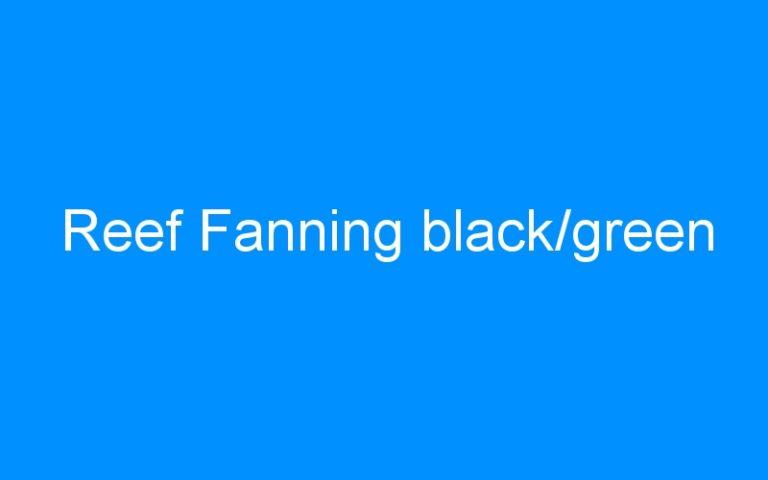 Reef Fanning black/green