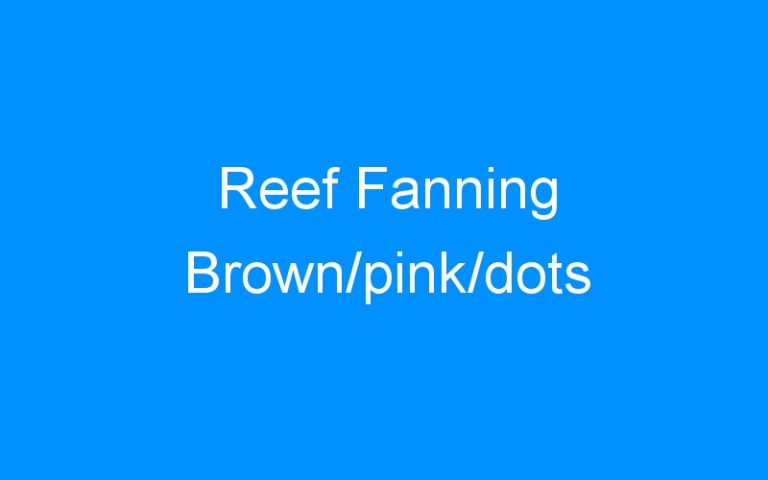 Reef Fanning Brown/pink/dots