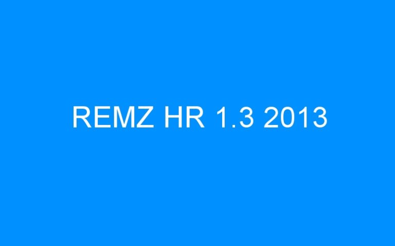 REMZ HR 1.3 2013