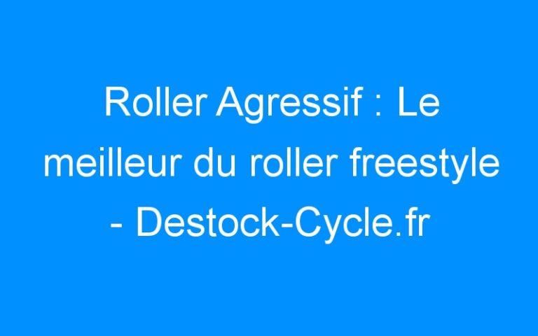 Roller Agressif : Le meilleur du roller freestyle – Destock-Cycle.fr