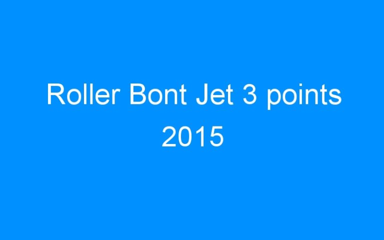 Roller Bont Jet 3 points 2015
