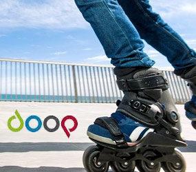 Powerslide présente son roller avec chaussure amovible qui se nomme Doop