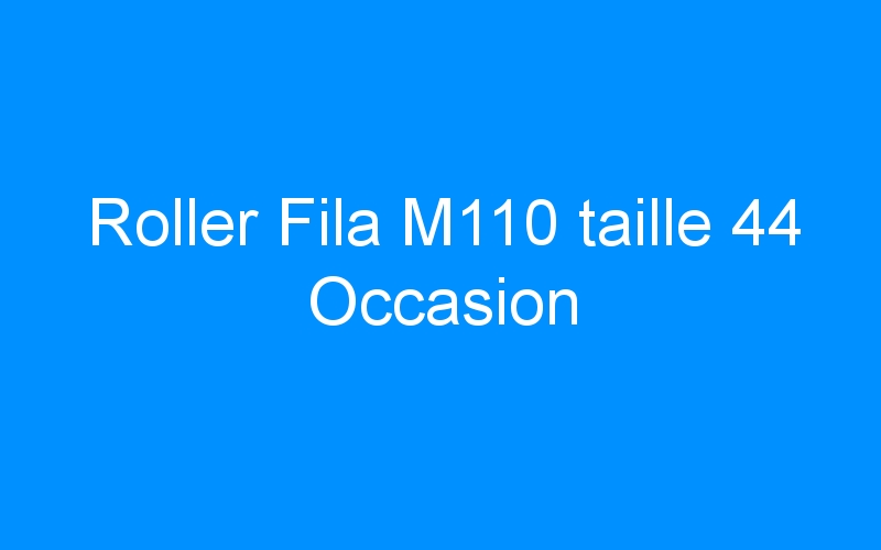 Roller Fila M110 taille 44 Occasion