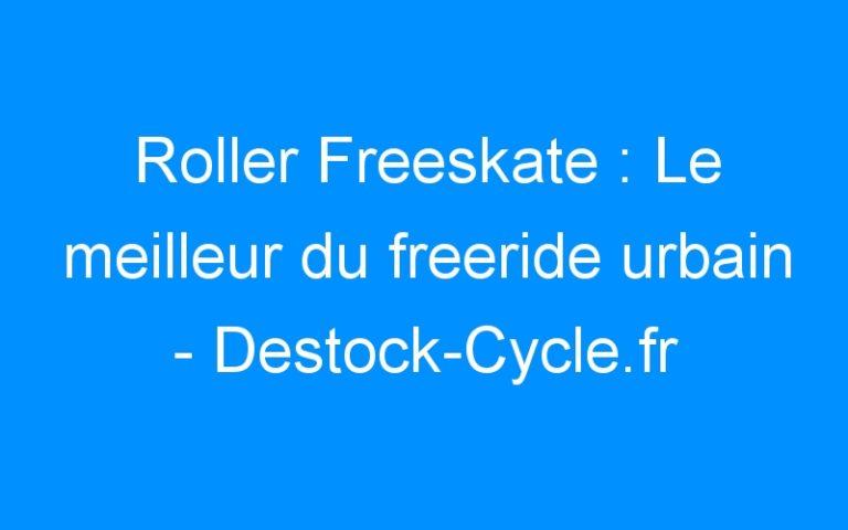 Roller Freeskate : Le meilleur du freeride urbain – Destock-Cycle.fr