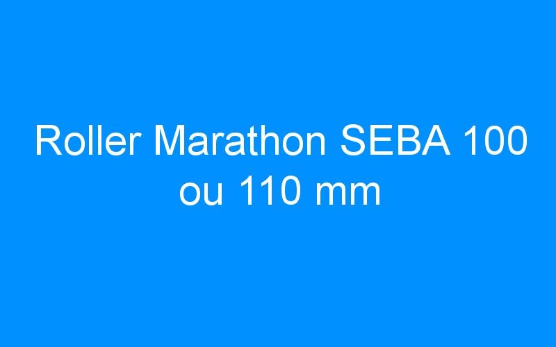 Roller Marathon SEBA 100 ou 110 mm