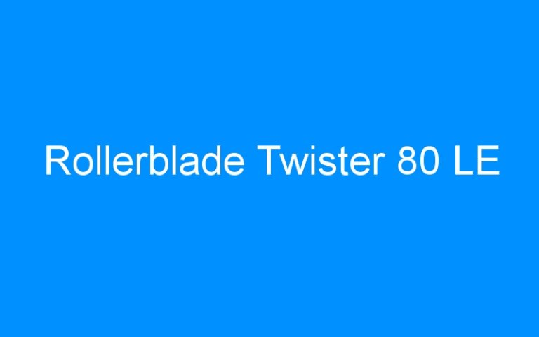 Rollerblade Twister 80 LE