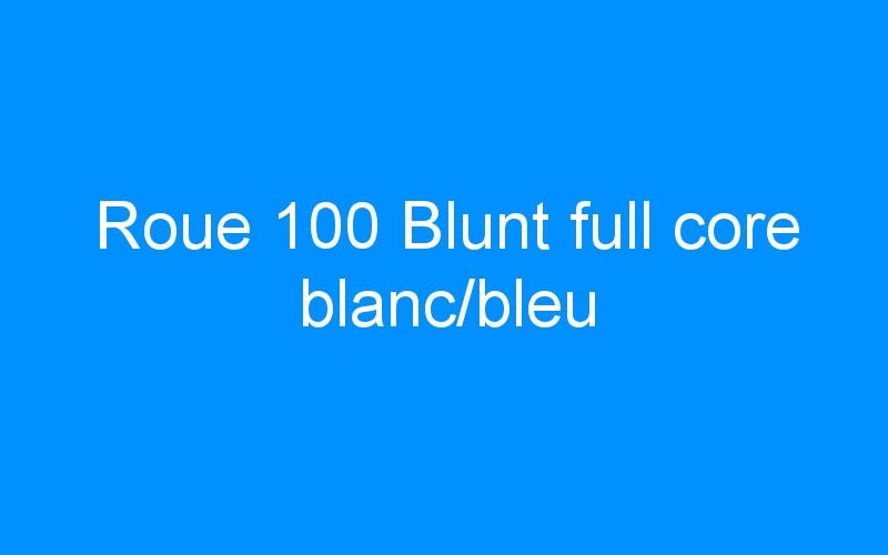 Roue 100 Blunt full core blanc/bleu