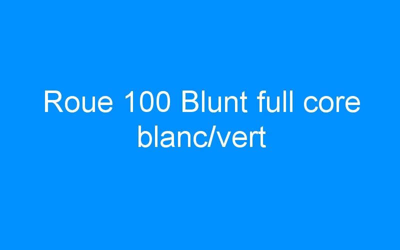 Roue 100 Blunt full core blanc/vert