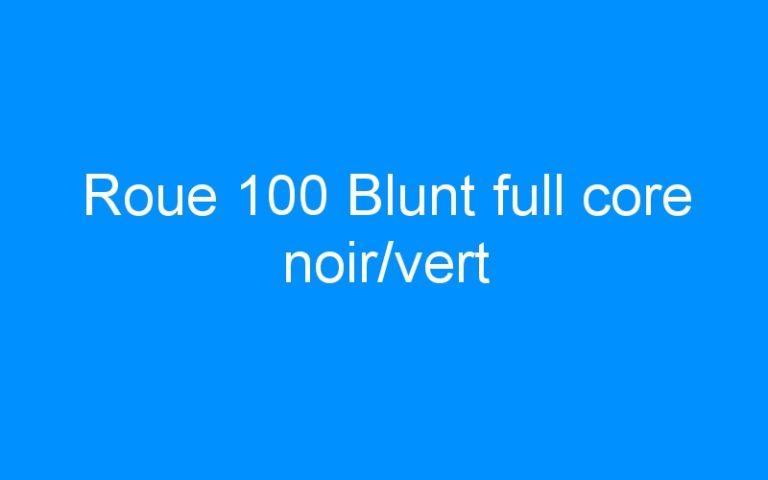 Roue 100 Blunt full core noir/vert