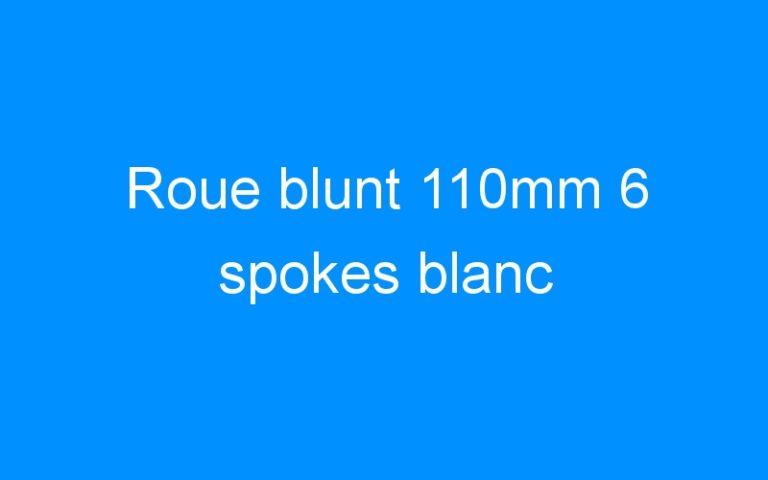 Roue blunt 110mm 6 spokes blanc