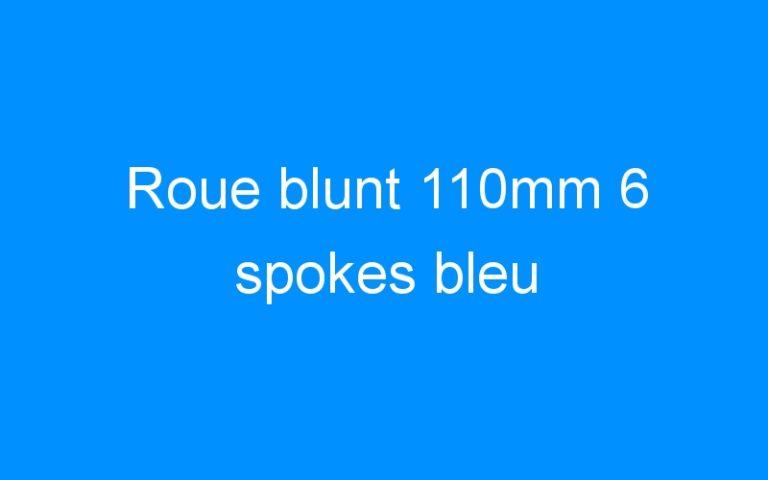 Roue blunt 110mm 6 spokes bleu