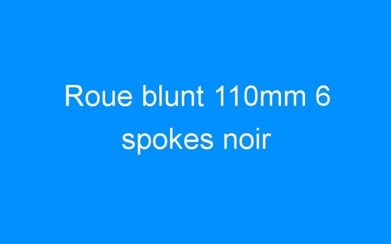 Roue blunt 110mm 6 spokes noir