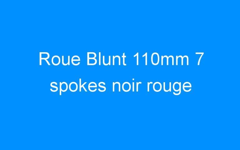 Roue Blunt 110mm 7 spokes noir rouge