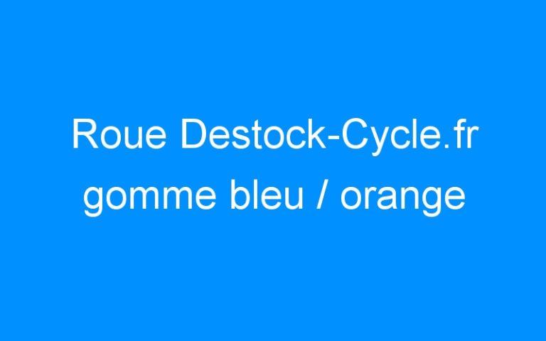 Roue Destock-Cycle.fr gomme bleu / orange